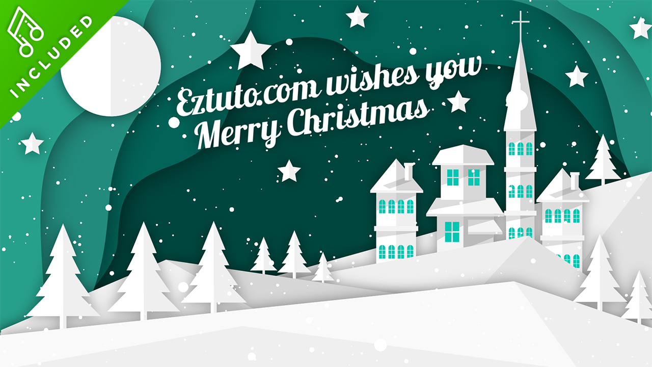 Christmas Greetings After Effects Template - Eztuto