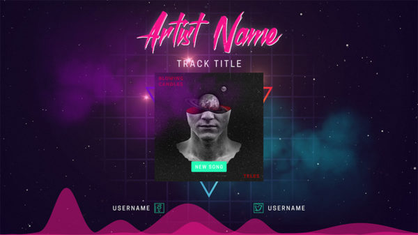 after effects music visualizer template free